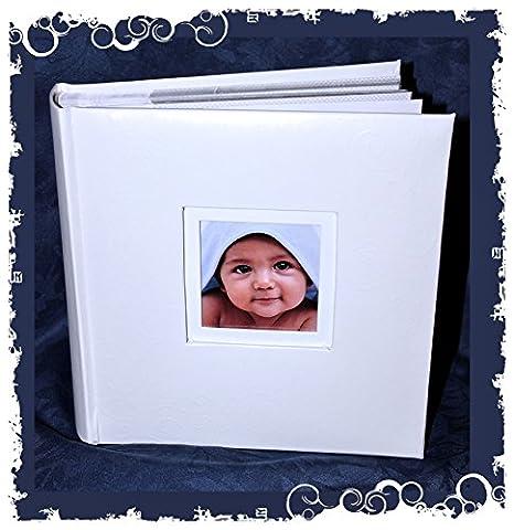 Baby Boy Foto Album Echt Leder für 15,2cm × 10,2cm/10cm x 5cm Fotos, 200Fotos zu (Leder Echtes Album)