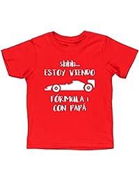 ESTOY VIENDO FÓRMULA 1 CON PAPÁ camiseta manga corta niños ...
