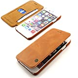 G-Case iPhone 6 Flip Hülle Wallet Ultra Slim Etui Book Cover Schutz Hülle ScorpioCover braun