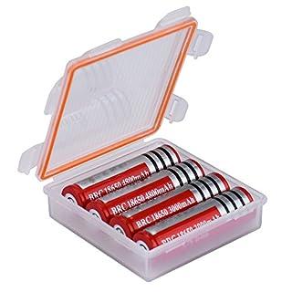 Amcool Batteriefach Halter Lagerung Box für 4x18650 Batterien Weiß