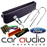 Ford Autoradio Radio Blende Blende Netzteil & Montageset für Ford Focus Ganzkörperspiegel/Galaxy/Mondeo Transit/Connect/Cougar/EXPLORER