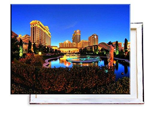 Unified Distribution Caesars Palace Las Vegas Hotel Casino - 80x60 cm - Bilder & Kunstdrucke fertig auf Leinwand aufgespannt und in erstklassiger Druckqualität