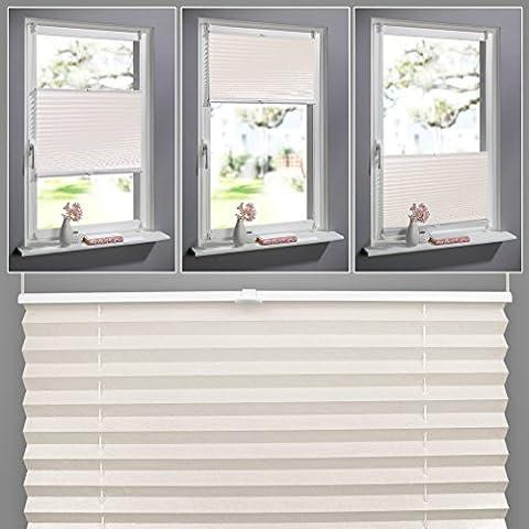 KINLO Blickdicht Rollos 90 x 130 cm Easyfix Plissee Verdunkelungsrollo Fensterrollo für Fenster, Klemmfix ohne Bohren -