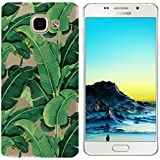 Coque Samsung Galaxy A5 2016 (A510),Samsung Galaxy A5 2016 Etui TPU,ZHXMALL Premium Flexible Souple Silicone Ultra Mince Lége Transparent Case Slim Gel Couverture Housse Protection Anti rayures AntiChoc Pare-chocs Coque pour Samsung Galaxy A510 - Feuilles de banane