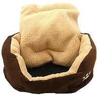 LAMEIDA Cama de Mascota de Peluche Cama de Mascota de Forma Redonda Cama de Peluche para Perros y Gatos pequeños