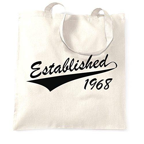 Fondata nel 1967 50 ° compleanno Cinquantesimo Sacchetto Di Tote White