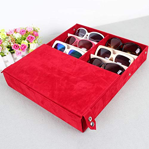 Sonnenbrillen Mode Eyewear Display Aufbewahrungskoffer Tray Sunglasses Display Case Sunglass (Farbe : Blau)