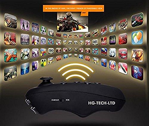 UrChoiceLtd®2017 Neue virtuelle Wirklichkeit VR PARK V3 3D-Phone TV Video Gläser + Bluetooth Gamepad für 4 - 6 Zoll Smartphone (Orange)