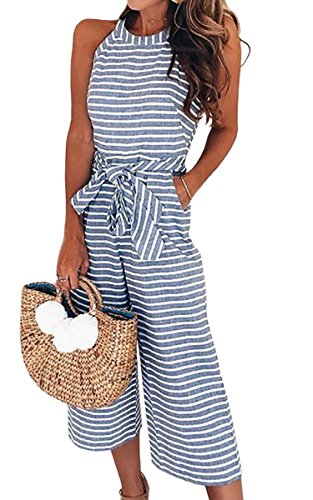 Sexy Ägyptische Outfits - ECOWISH Damen Jumpsuit Sommer Overall Sexy