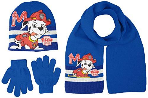 Disney Paw Patrol, Ensemble de Chapeau, écharpe et mitaines Garçon Bleu - Bleu