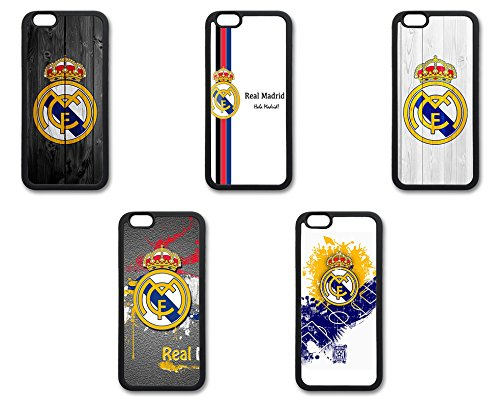 Coque silicone BUMPER souple IPHONE 5/5s/SE - Real Madrid football la liga CASE tpu DESIGN + Film de protection INCLUS 2