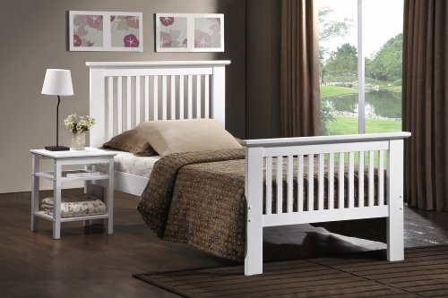 Ideal Furniture Howard White Wooden Bed Frame - Double