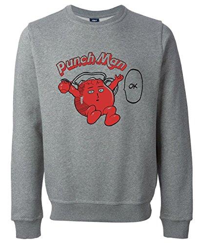 one-punch-man-kool-aid-punch-ok-funny-unisex-maglione-felpa-small