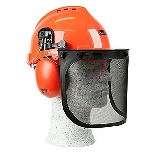 Kopfschutz-Schutzhelmkombination-Yukon-stofester-und-atmungsaktiver-PP-Helm-bequemer-Gehrschutz-breites-und-robuste-Netzvisier-aus-Edelstahl-fr-den-Augenschutz-SNR-Wert-259-dB