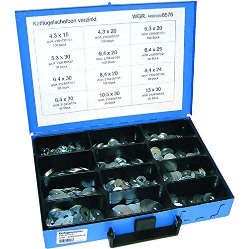 Preisvergleich Produktbild Dresselhaus Kotflügelscheiben-Sortiment 800-teilig verzinkt 4001796016264