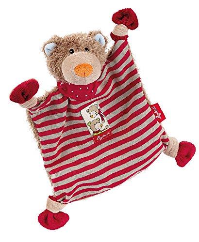 sigikid, Mädchen und Jungen, Schnuffeltuch Bär, Wild and Berry Bear, Rot/Braun, 40783