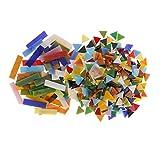 Sharplace 370 Stücke Rechteck Dreieck Form Glasmosaik Fliesen Für Kunst DIY Handwerk