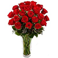 Ramo de 25 rosas rojas naturales, frescas, máxima calidad,Añade tu dedicatoría durante el proceso de compra. entrega 48/72 horas