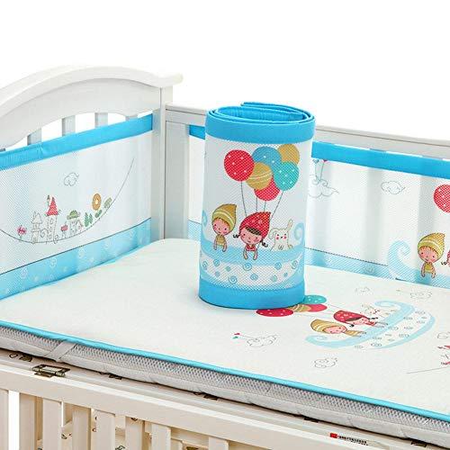 Depruies Baby Betteinlage für Babybett, stoßfest, verstellbar, für 4 Jahreszeiten, universell himmelblau