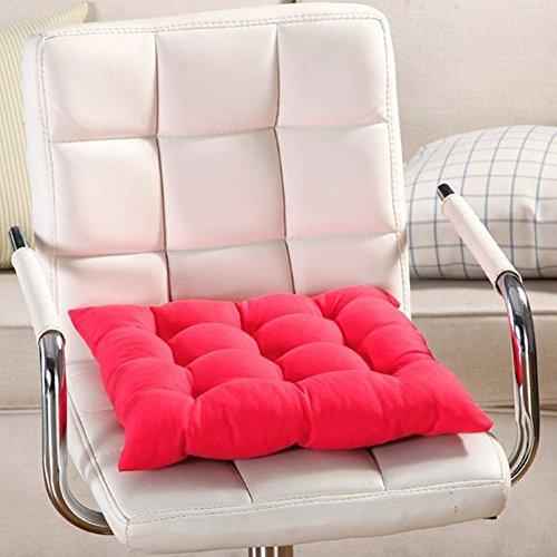 vap26 Quadrat Fest Sessel Sitzpolster mit Kabel für Terrasse Zuhause Auto Sofa Büro Tatami Dekoration - Rot, 40cm by 40cm
