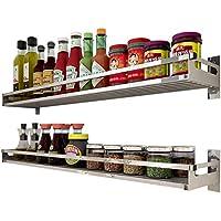 304 armarios de Cocina de Acero Inoxidable Pared montada Almacenamiento de Pared condimentos Suministros de Almacenamiento (Tamaño : 60)