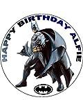 7,5 Batman super-héros Glaçage comestible décoratif pour gâteau d'anniversaire Motif Super-héros