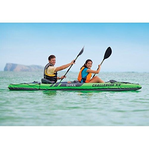 51x2YPIMpxL. SS500  - Intex Challenger Kayak Inflatable Set with Aluminum Oars