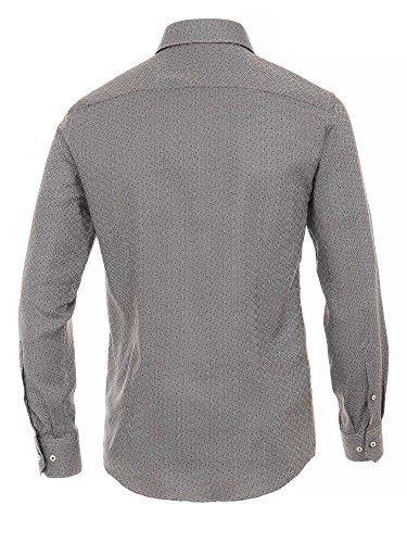 Venti Herren Businesshemd 100% Baumwolle Slim Fit Grau