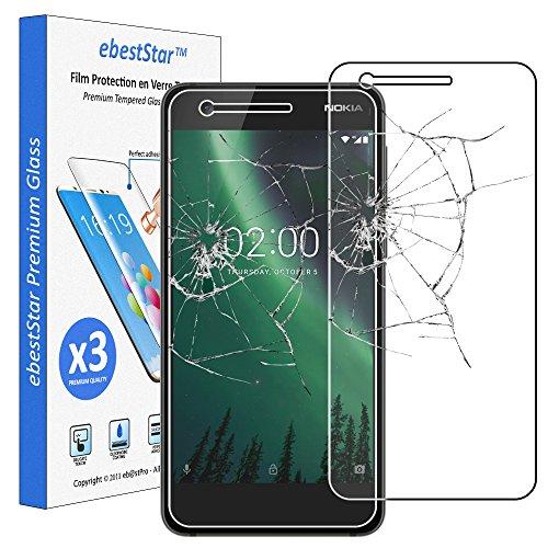 ebestStar - x3 Vetro Temperato Nokia Nokia 2 Protezione Schermo Pacco da 3 Pellicole Anti Shock, Anti Rottura, Anti graffio [Apparecchio: 143.5 x 71.3 x 9.3mm, 5.0'']
