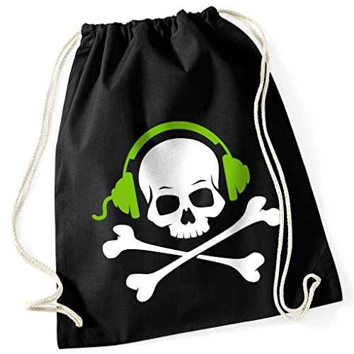 skull-and-bones-skull-earphone-music-100-cotton-gym-bag-with-printed-design-and-single-size-one-size