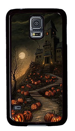 Samsung Galaxy S5 Case,Samsung Galaxy S5 Cases - Halloween Haunted House Custom Design Samsung Galaxy S5 Case Cover - Polycarbonate¡§CBlack