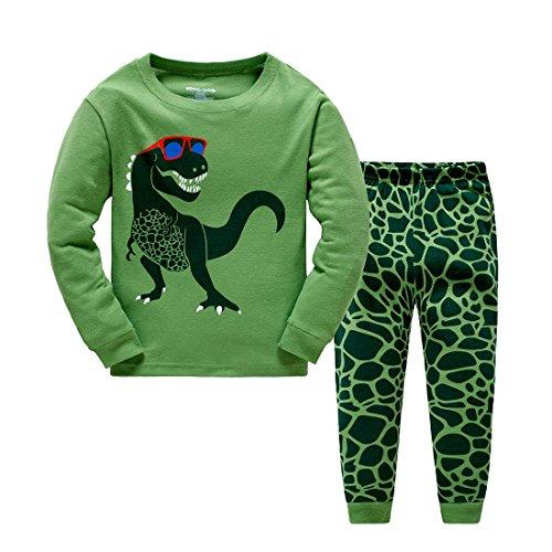 Popshion Jungen Schlafanzug Kinder Dinosaurier Pyjamas Sets Kleinkind Pjs Nachtwäsche 1-7 Jahre -