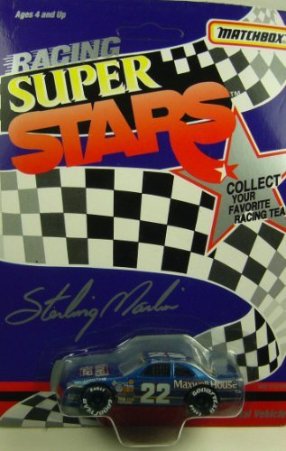 1992-nascar-matchbox-racing-super-stars-sterling-marlin-22-maxwell-house-ford-thunderbird-1-64-dieca