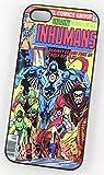 Inhumans DC Marvel Super-héros Comic Coque Vintage pour iPhone 4/4s Coque en plastique rigide Coque Noir