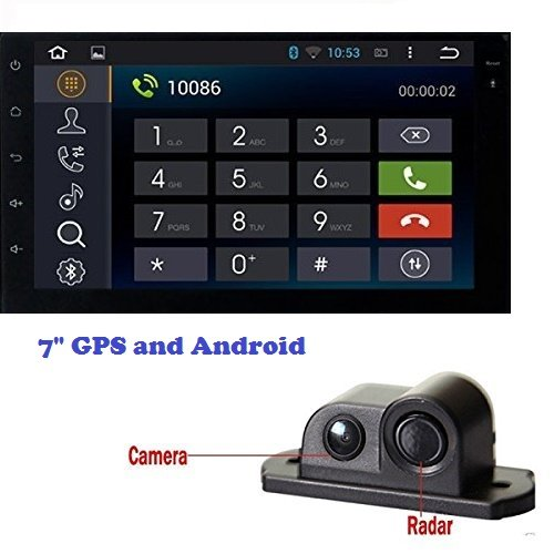 "7"" double din car stereo (gps and android) with car parking sensor reversing radar rear camera 7″ Double Din car stereo (GPS and Android) with Car Parking Sensor Reversing Radar Rear Camera 51x2bVKpxNL"