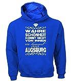 Artdiktat Herren Hoodie - Wahre Schönheit Kommt Nicht von Innen - Sie Kommt Aus Augsburg Größe S, Blau