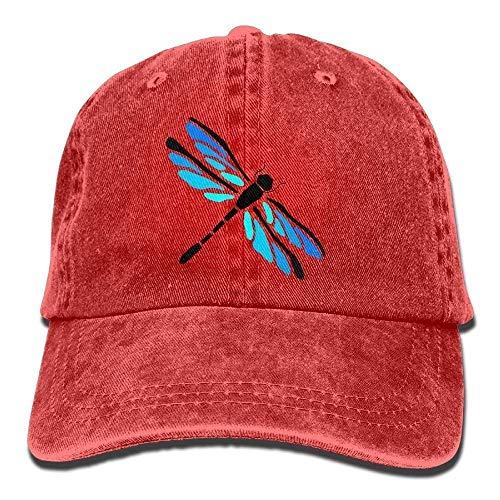 Unisex Playful Dragonfly Funny Logo Summer Fashion Cotton Baseball Adjustable Trucker Hats for Outdr Sport