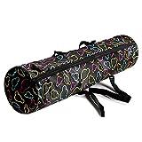 Lixada Yogatasche Wasserabweisende Matte Tragetasche mit Reißverschluss Aufbewahrungstasche mit Handytasche