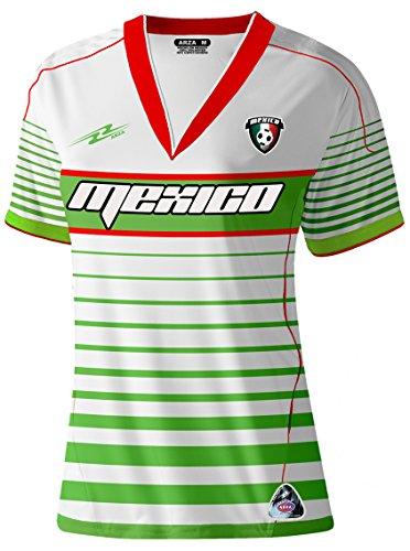 1326a4d7a78c5 México Slim Mujeres fútbol Jersey diseño Exclusivo - Blanco -