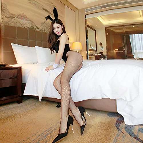 SesexxySexy Dessous, kleine Brüste, sexy Uniform, hasenmädchen Kleidung, Leidenschaft, SM Perspektive Outfit, intimen Nachtclub Outfit, Rosa, [] Levis 5 Stück panty Netz Socken (Intimen Chemise Dessous)