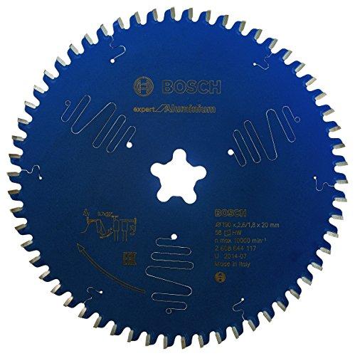 Bosch Professional Kreissägeblatt Expert für Aluminium 190 x 2,6 mm, Zähnezahl 58, 1 Stück, 2608644117