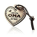 Schlüsselanhänger Herz mit Gravur aus Holz -