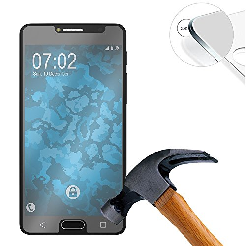 Lusee 2 X Pack Panzerglasfolie für Alcatel Onetouch Pop 4S 5.5 Zoll Tempered Glass Hartglas Schutzfolie Folie Bildschirmschutz 9H (Nur den flachen Teil abdecken)