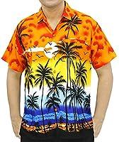 Hawaii Vintage Surfing Button Up Hawaiian Shirts For Men 999 Orange Xl Gift Spring Summer 2017