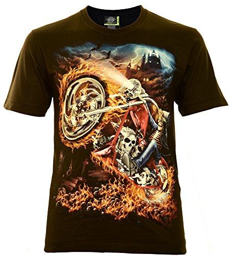 Hell Rocker Herren T-Shirt Schwarz Gr. 3XL Glow in The Dark