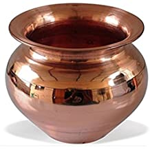 Tactware Pooja Accessory Handmade Copper Lota Kalash