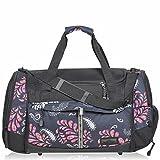 KEANU Sporttasche Adventure ** Viele Fächer z.B. Schuhfach, Seitentaschen, Vordertasche ** 40 Liter Fitness Tasche Sport Sauna Tasche Reisetasche