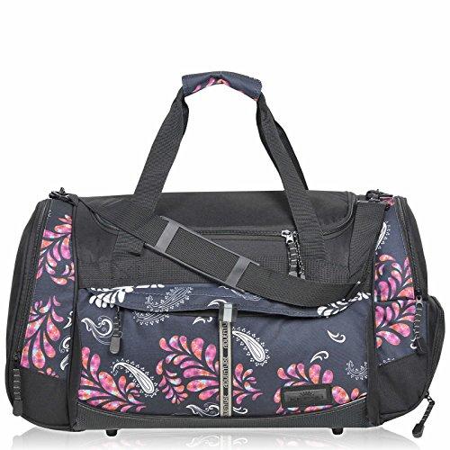 KEANU Sporttasche Adventure Damen Herren ** Viele Fächer z.B. Schuhfach, Seitentaschen, Vordertasche ** 45 Liter Fitness Tasche Sport Sauna Tasche Reisetasche Handgepäck