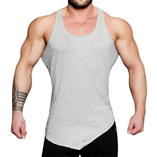 ITISME TOPS Fitness Bodybuilding Fitness Muskel Sleeveless Unterhemd-T-Shirt Sport Top Herren Spitzenweste-Behälter der Männer Tankshirt