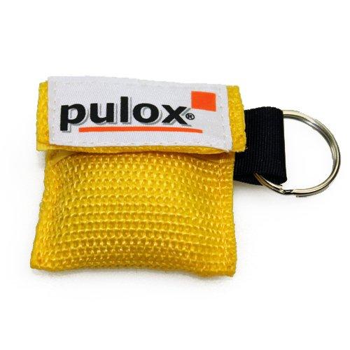 PULOX RESPI-Key Schlüsselanhänger Beatmungsmaske in gelb